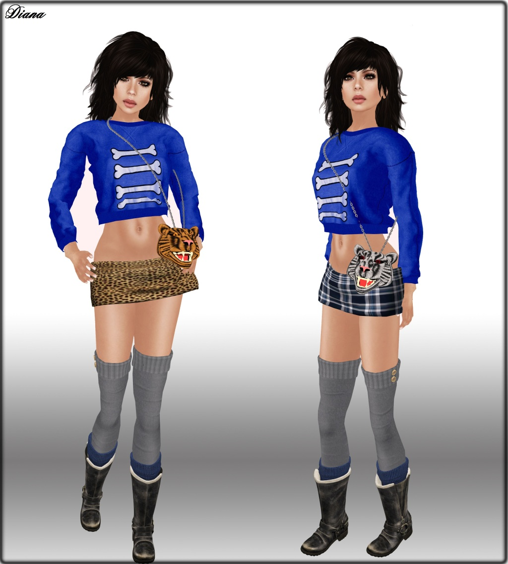 Poised Vixen Skirt and Ricielli 04 print Sweater