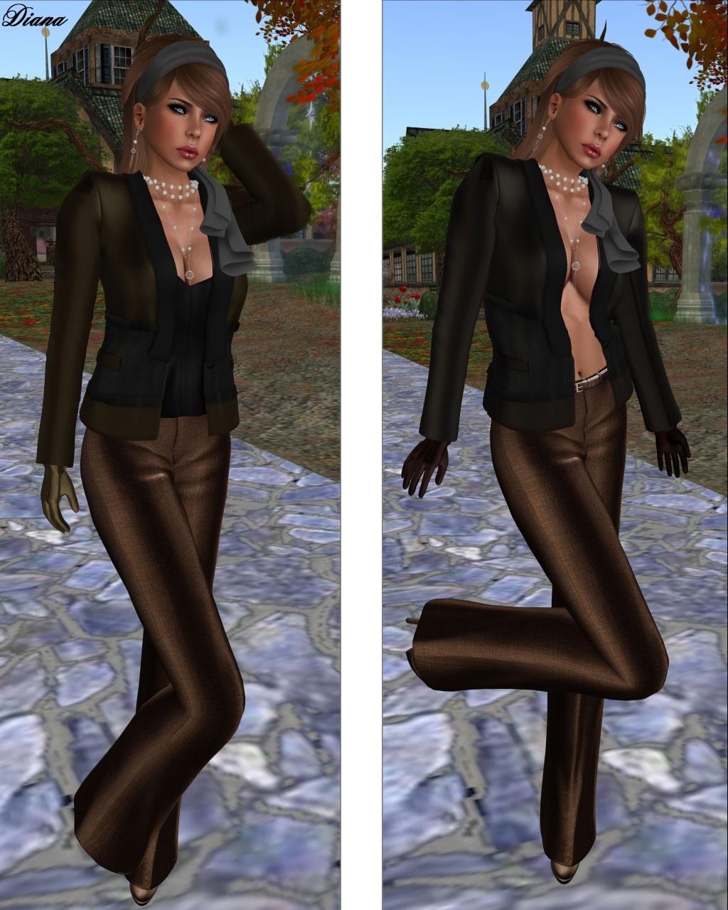 Baiastice - Emma Jacket brown and chocolate
