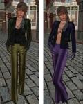Baiastice - Emma Jacket green and purple