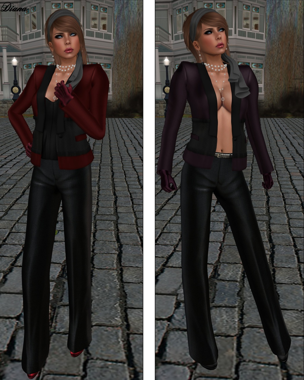 Baiastice - Emma Jacket red and wine