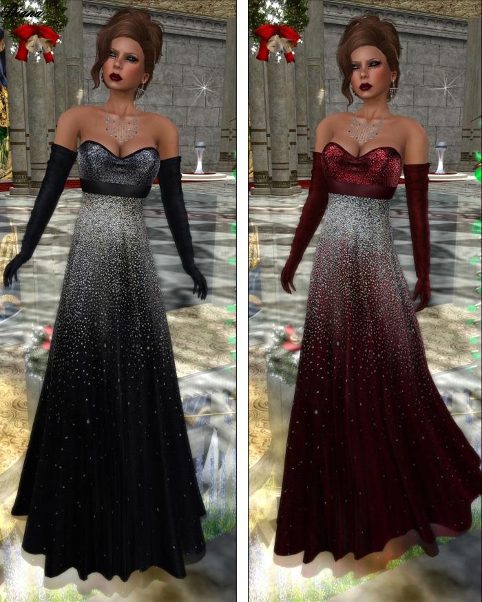 Baiastice - Mana Dress stars black and stars red