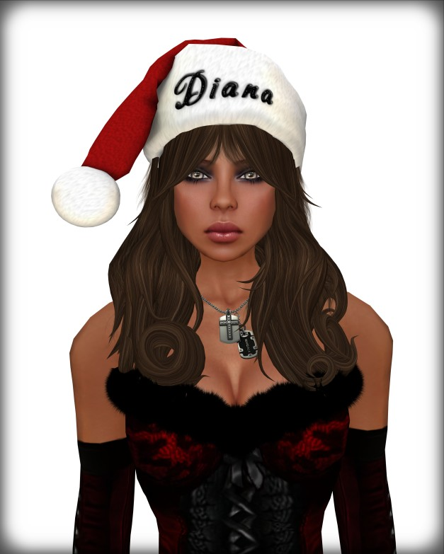 BodyCult-Mesh Custom Christmas Hat Girl