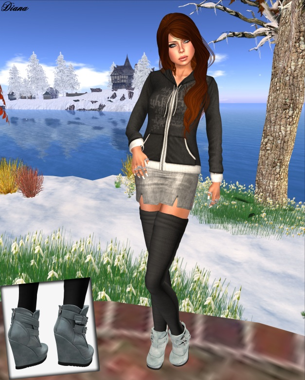 DN Mesh MiniSkirt and  Mesh Hoodie - G&D Mesh Ankle Boots Sarina