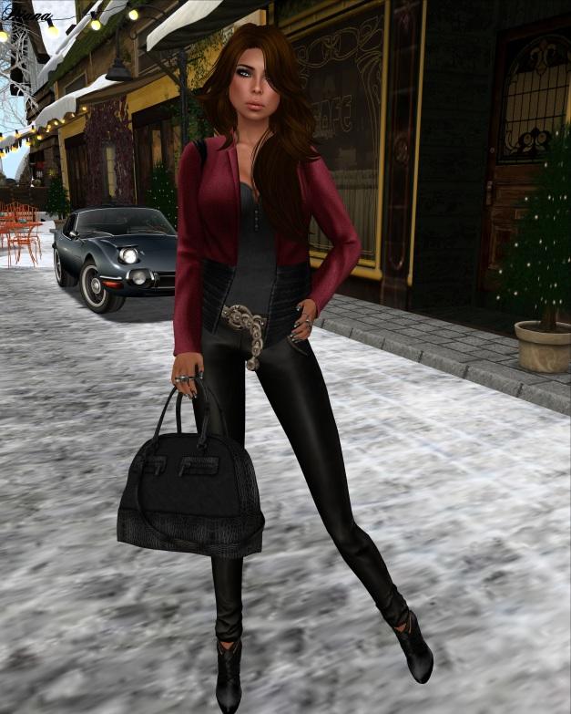 erratic - laney tweed jacket (red-black)