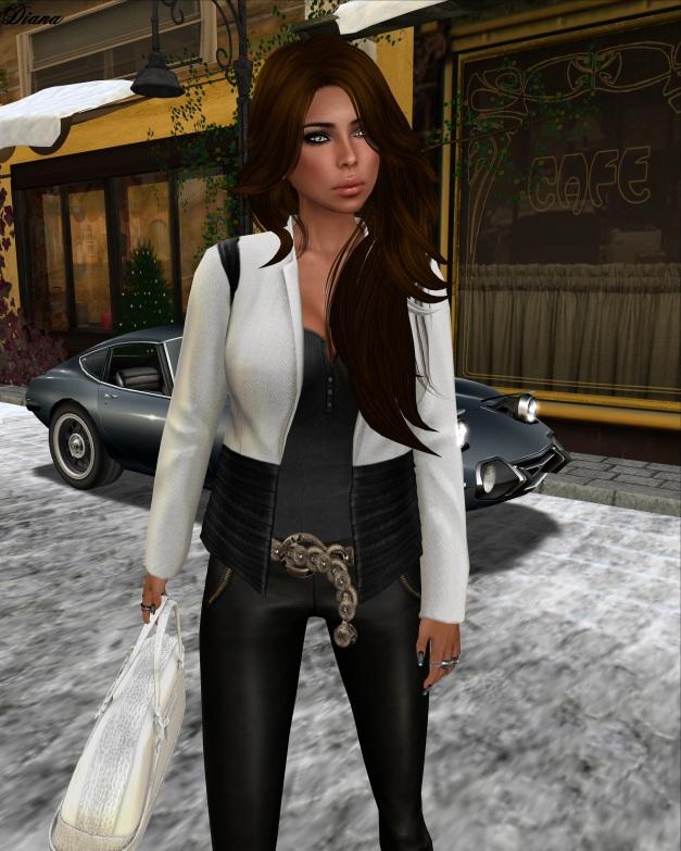erratic -  laney  tweed jacket (white-black)