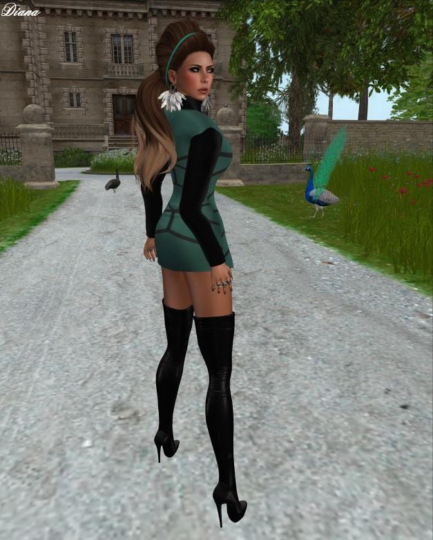 Fashion Fears - Mesh Mini Dress Green-2
