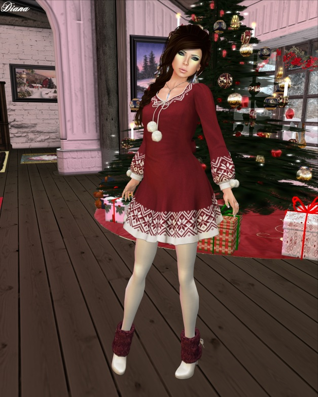 G Field - Holiday Dress red