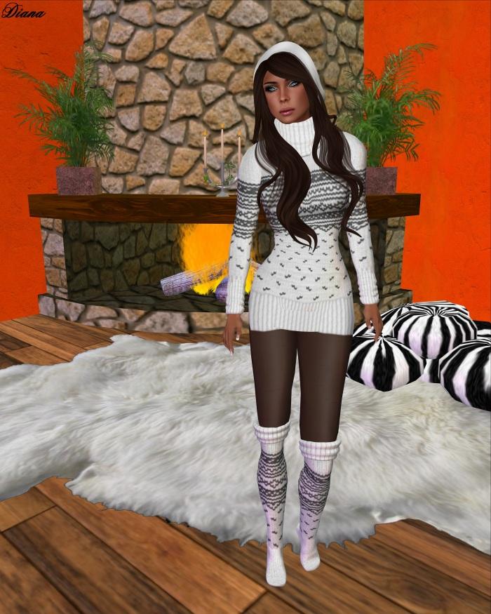Gawk! - White Norwegian Knit Pullover
