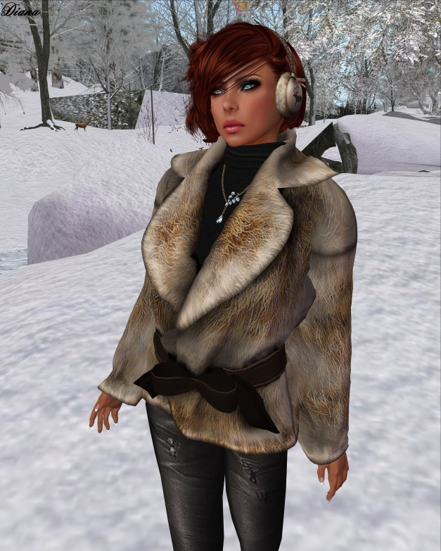 !gO! - Fur Jacket (ginger)