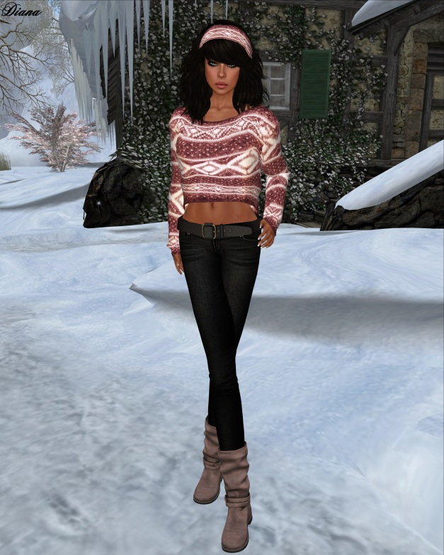 Hudsons Clothing - Rosey Red Mesh Mohair Sweater Set