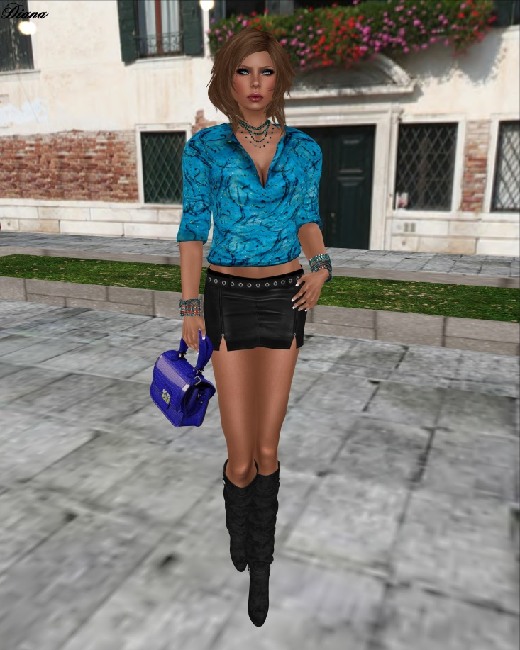 Immerschoen-BodyCult Mesh Skirt Outfit Rivets