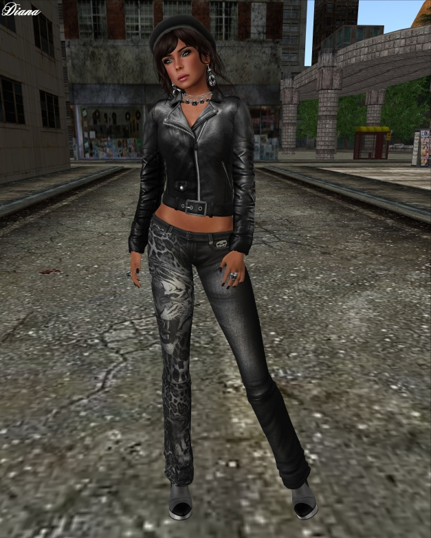 Immerschoen - Mesh Biker Leather Jacket black