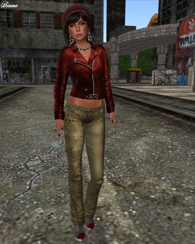Immerschoen - Mesh Biker Leather Jacket red