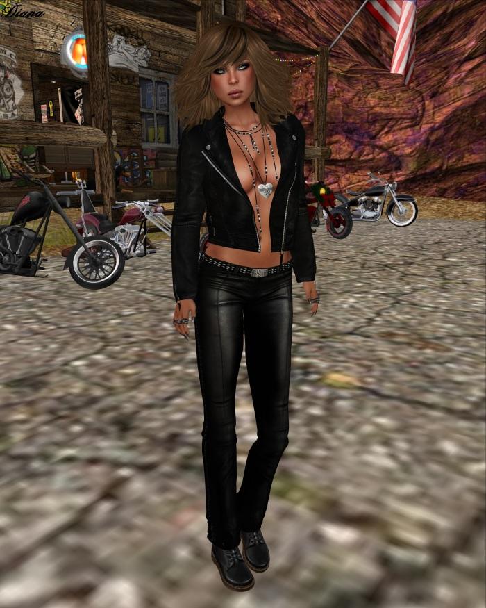 Immerschoen - Mesh Leather Jacket Mara black