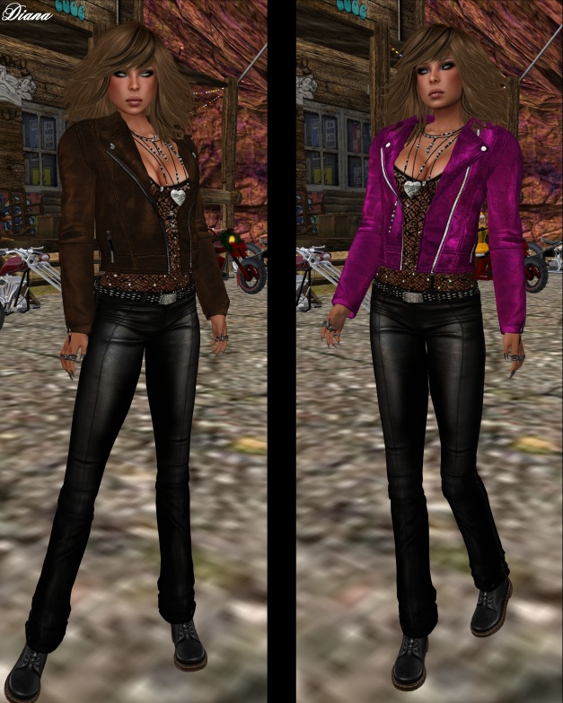 Immerschoen - Mesh Leather Jacket Mara brown and pink