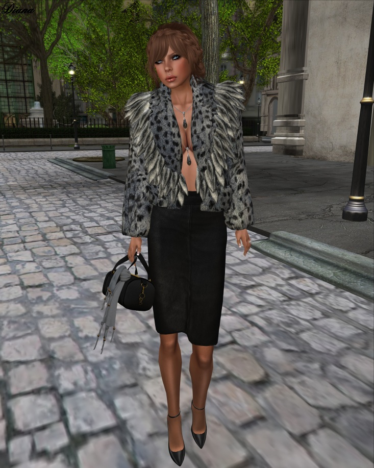 Mimikri - Luxe Fur Jacket Mesh (leo polar)