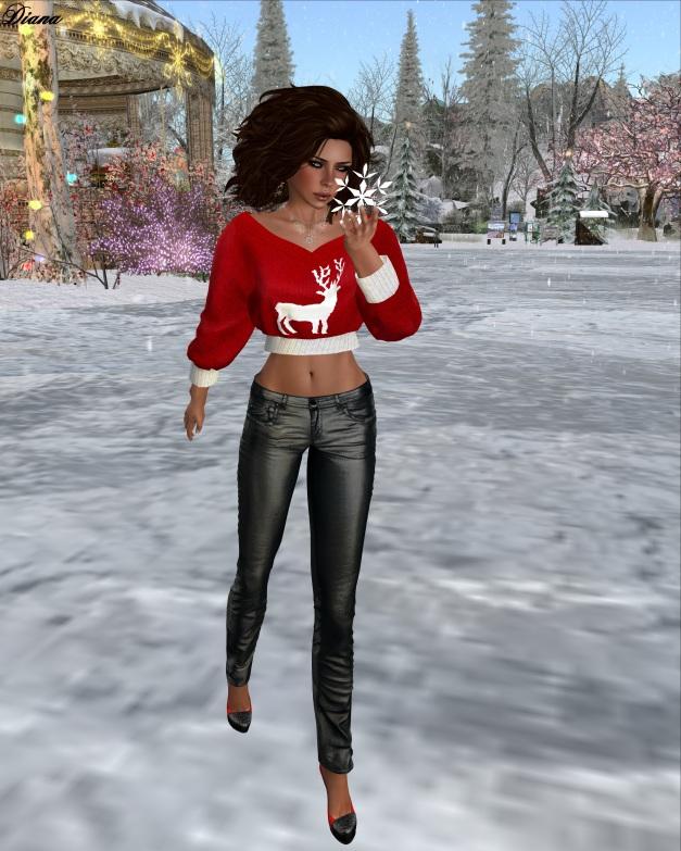 Redgrave-Hana Sweater Rudolph and Jeans LQM metallic black