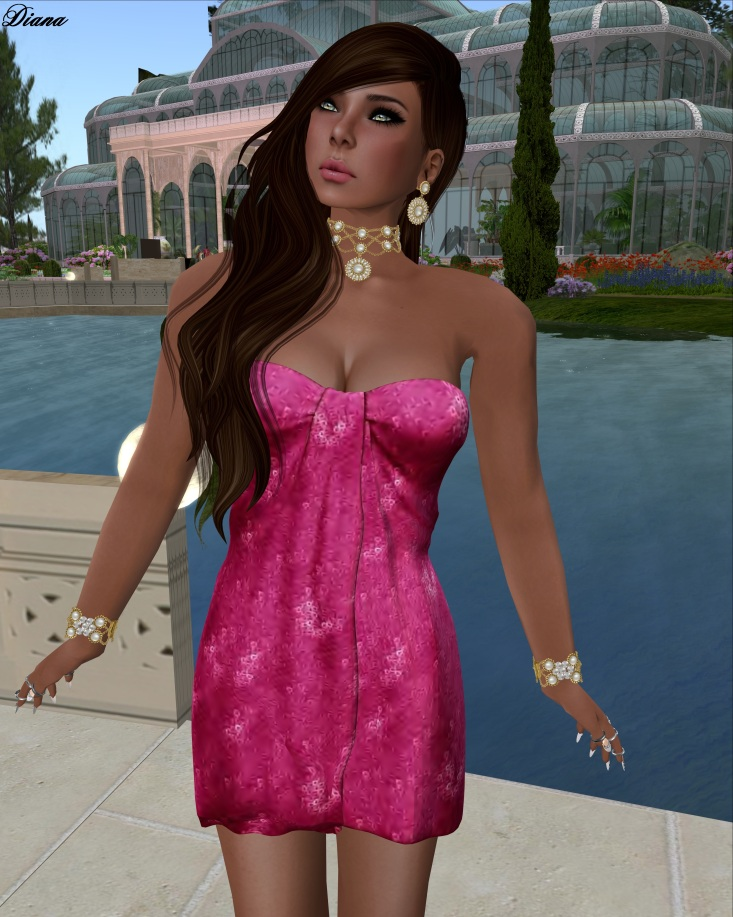 Ricielli - Mesh Glamurous Minidress Barbie