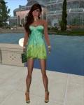 Ricielli - Mesh Glamurous Minidress Gradient Mermaid