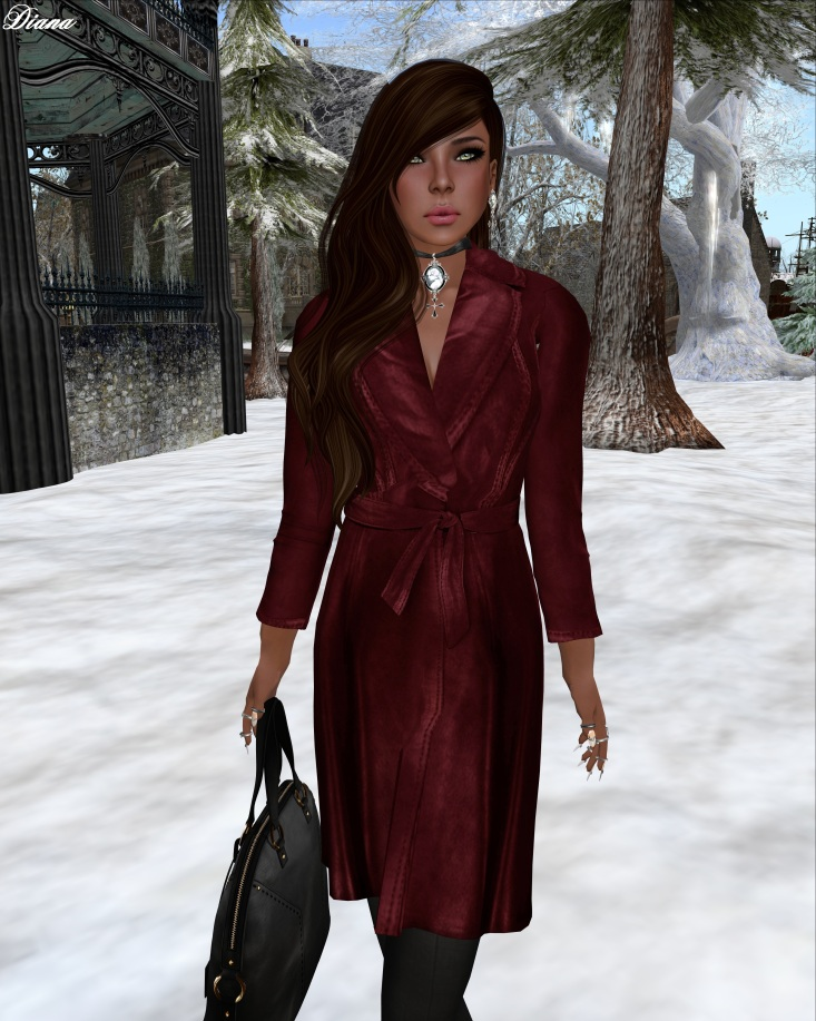 Ricielli - Mesh Overcoat Sangria