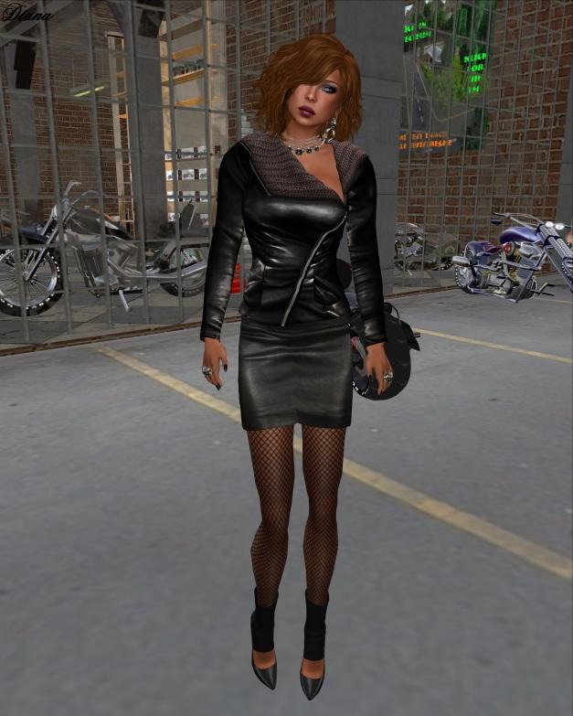 Sassy! - London jacket knit collar black