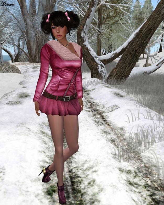 Sassy! - London jacket knit, Flippy skirt - Sassy pink