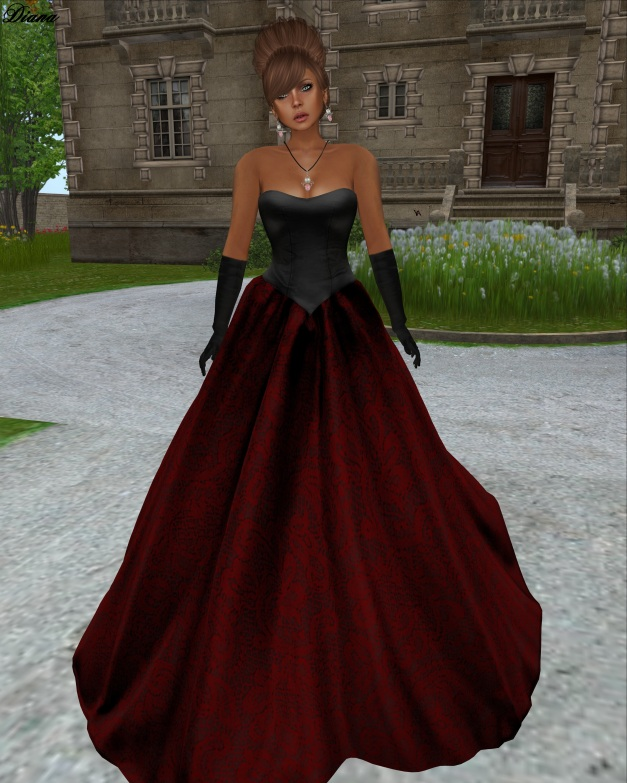 Apple May Designs - Royalty Mesh Gown