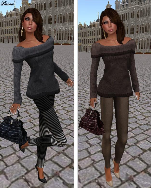 coldLogic - leggings chea grayscale and shirt sayers soot - leggings hill cocoa and shirt sayers cocoa