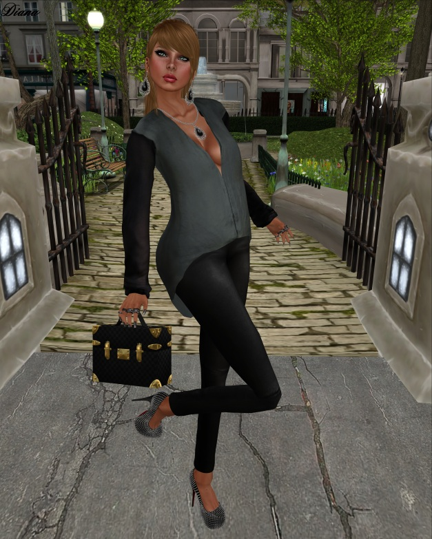 Color.Me.H.O.F - Mesh A Symmetric Top and Leather Leggins-2