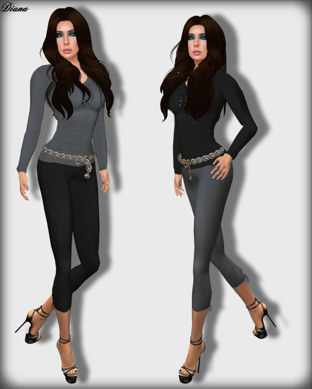 DCNY Lace-Up Leggings and Tee