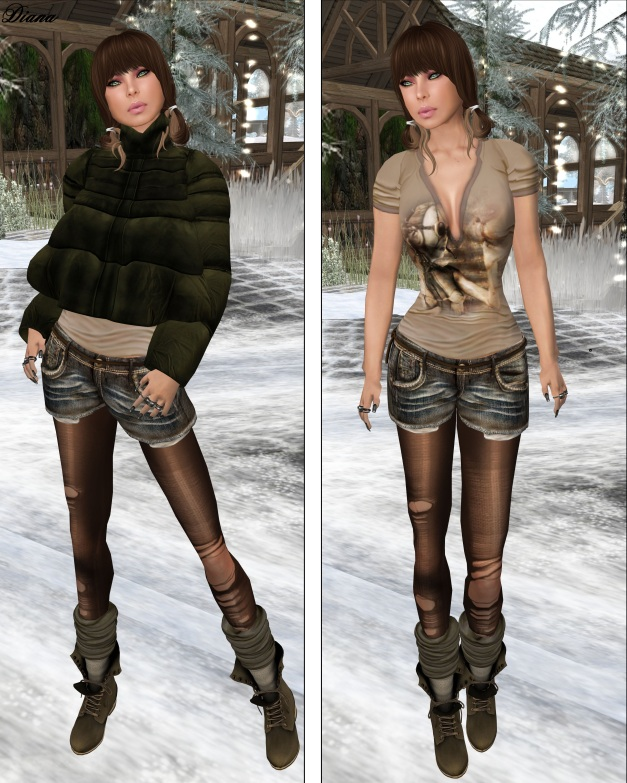 GizzA - Loose Denim Short Outfit