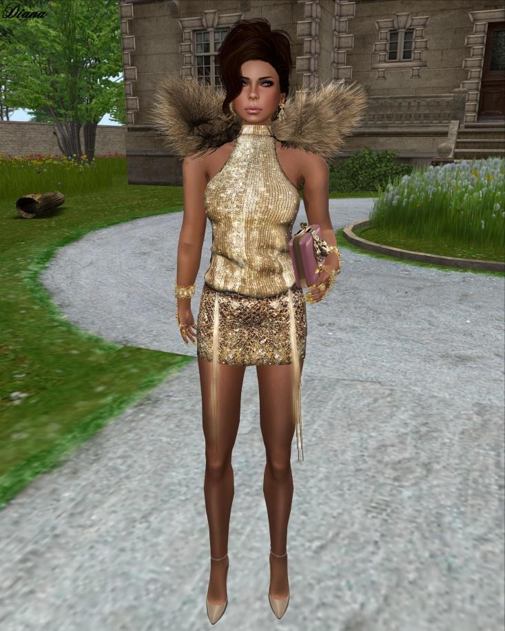 GizzA - Rich&Famous Dress (Gold)-1
