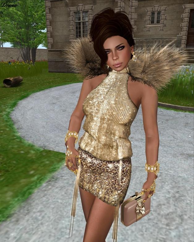 GizzA - Rich&Famous Dress (Gold)-2