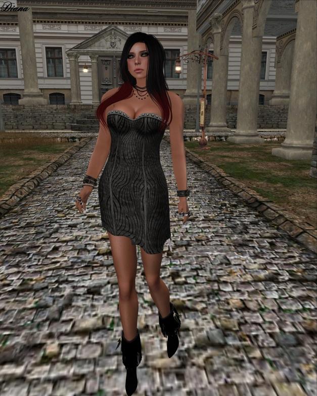 Immerschoen-BodyCult - Mesh Leather Dress Q black