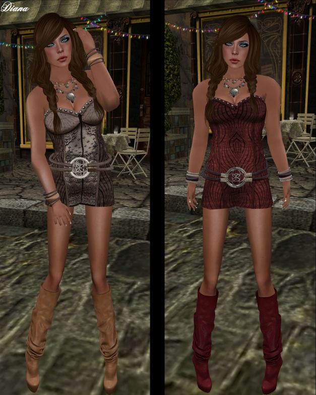 Immerschoen-BodyCult - Mesh Q-2 Leather Dress brown-lace and vine