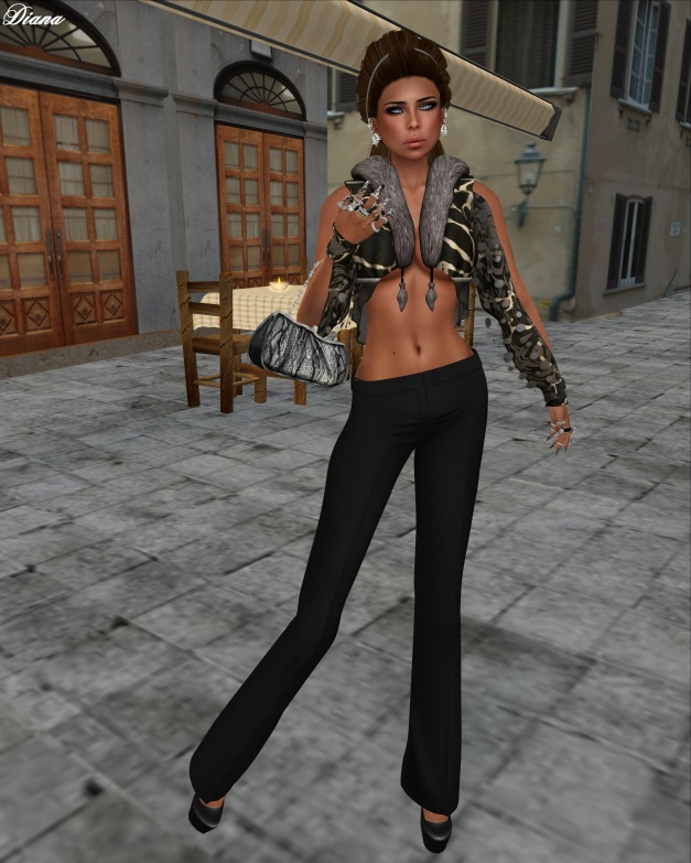LeeZu! - Tasia Jacket (giraff) and !Rebel Hope - Charlie Mesh Pants-1