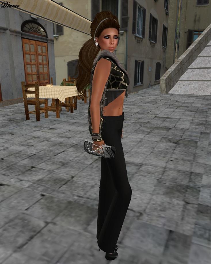 LeeZu! - Tasia Jacket (giraff) and !Rebel Hope - Charlie Mesh Pants-2