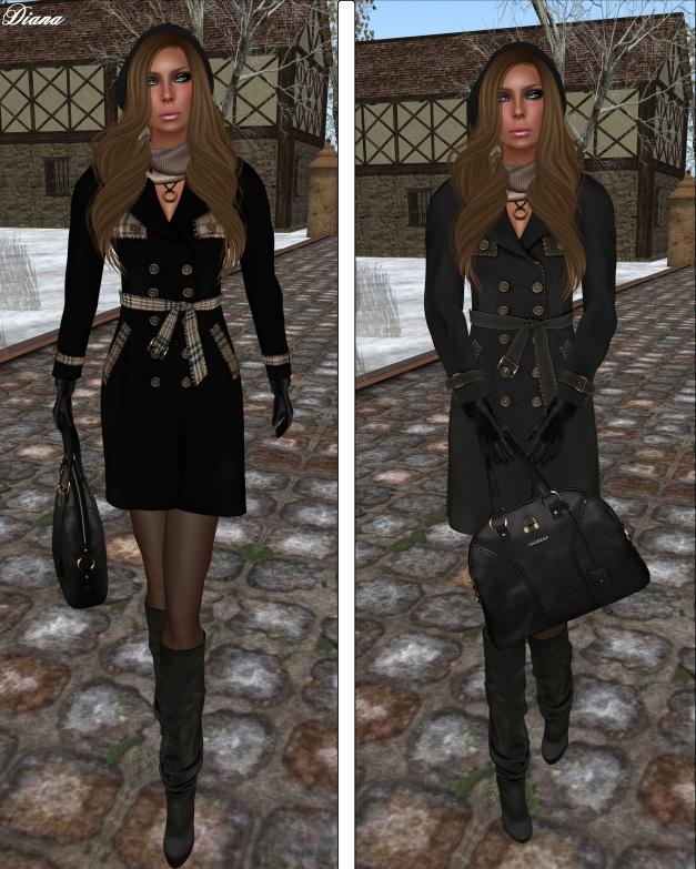 Ricielli - Mesh Trench Coat BB-black and blackjeans