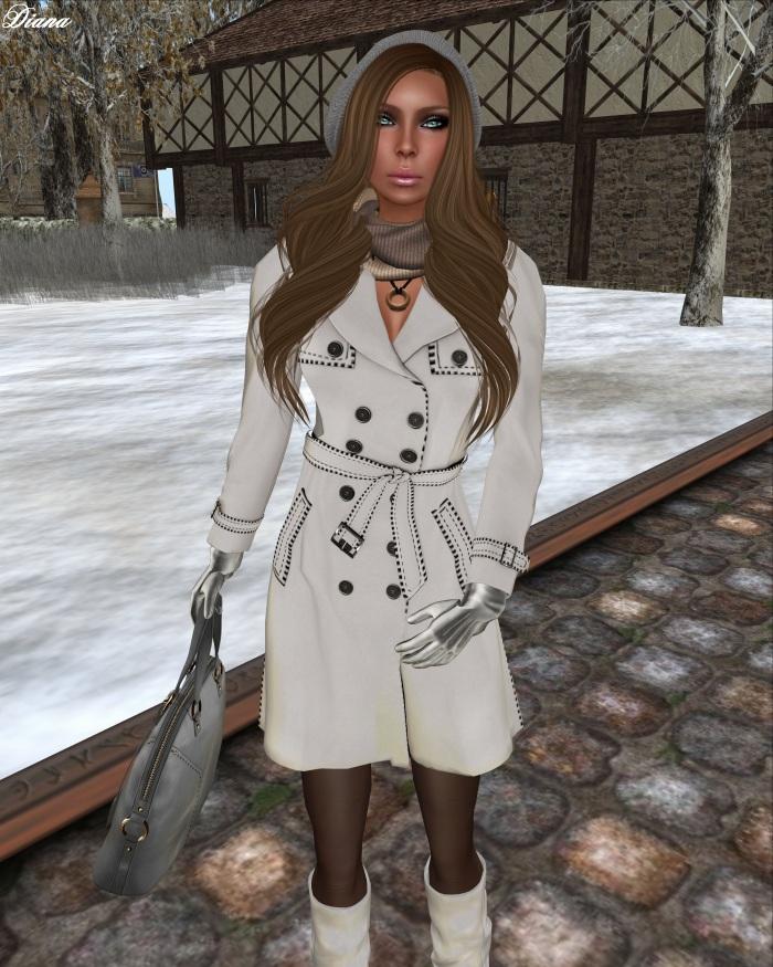 Ricielli - Mesh Trench Coat bi-whiteblack