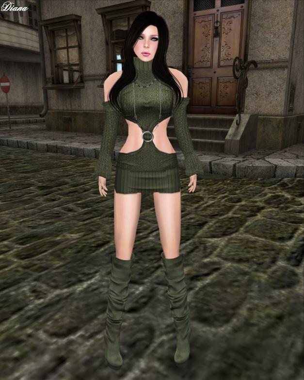 Sassy! - Rockin Dress-olive
