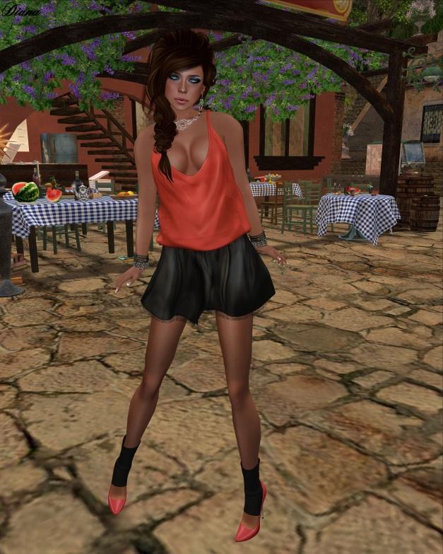 Teefy - Ana Slouchy Satin Tank and Emily Mini Flare Skirt-1