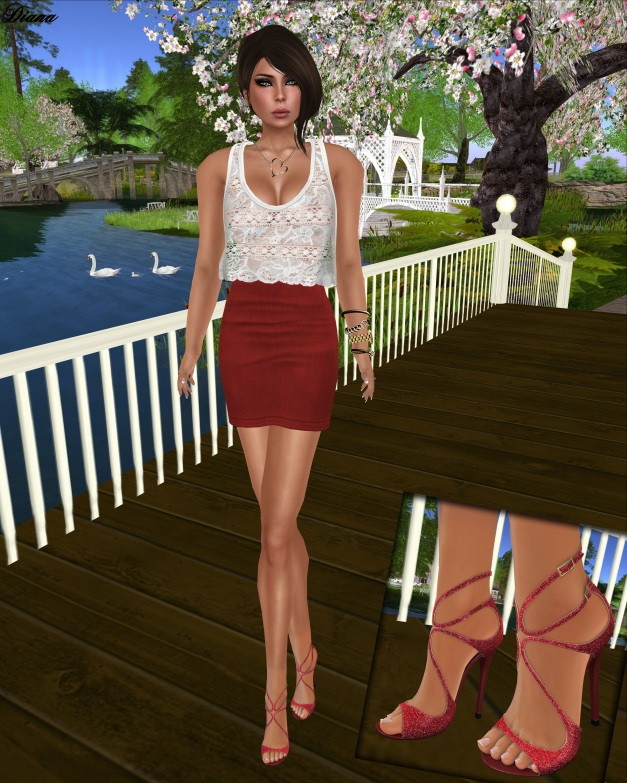Chemistry - Echo Tank Top and Gos Boutique - Grace Sandals