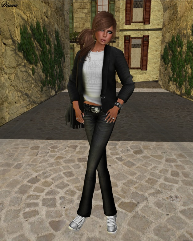 Ducknipple - Mesh Blazer with Shirt and Razorblade Jacket - Fuel Low Rise Jeans-1