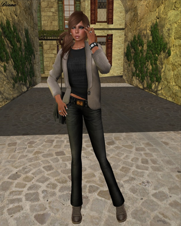 Ducknipple - Mesh Blazer with Shirt and Razorblade Jacket - Fuel Low Rise Jeans-2
