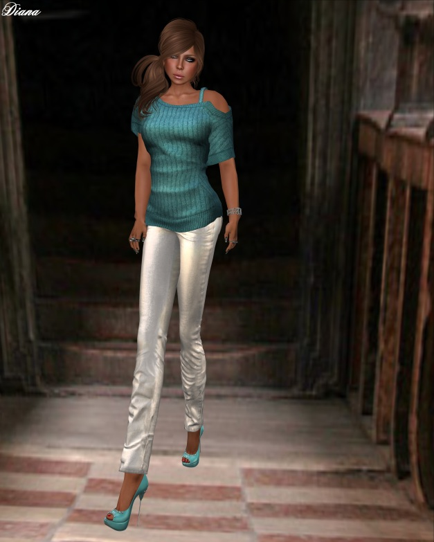 Ducknipple - Mesh Hanny w HUD and Redgrave - Jeans LQM metallic snow