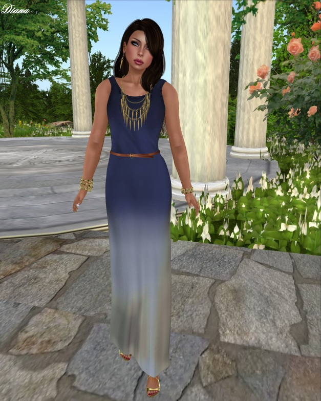 Emery - Mesh Maxi Dress Skyler (Royal Blue)-1