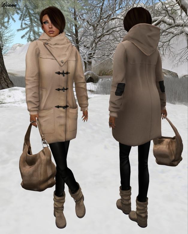 erratic - Bethany Duffle Coat (beige)-1