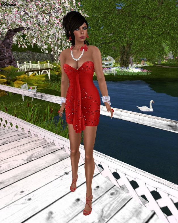 G&D - Dress Mesh Arven Red