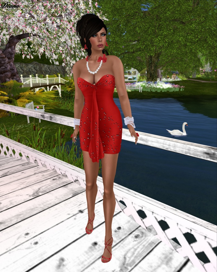 G&D - Dress Mesh Arven Red