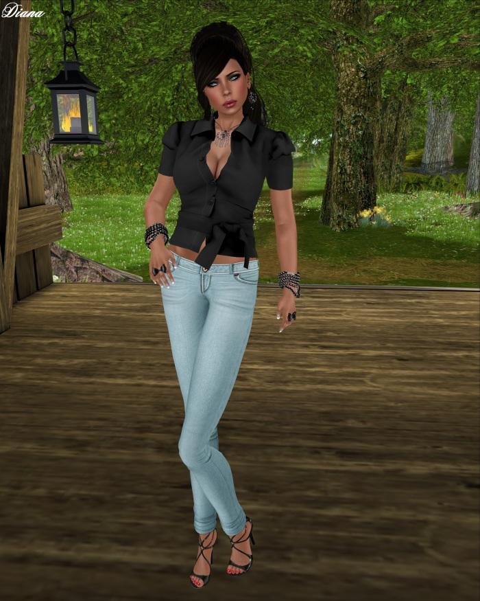 G&D - Mesh Shirt Vest Adelle Black